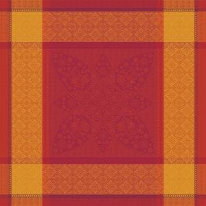 "Palerme Orange Sanguine Napkin 22""x22"", 100% Cotton"