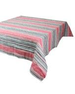"Sombrilla Corail Tablecloth 45""x45"", 100% Linen"