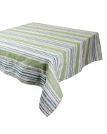 "Sombrilla Olive Tablecloth 45""x45"", 100% Linen"