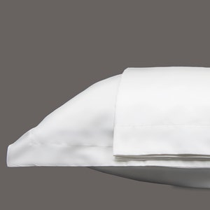Monaco Percale White Pillow Shams Set, 300 thread count