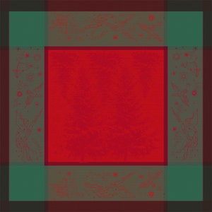 Noel Etoile Rouge Jacquard Napkin, 100% Cotton Image
