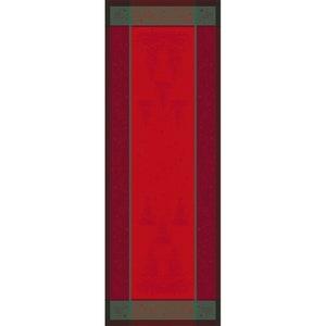 Noel Etoile Rouge Jacquard Tablerunner, Stain Resistant Cotton Image