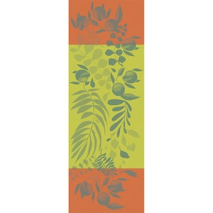 """Orange Festival Citrus Jacquard Tablerunner 61""""x22"""""""