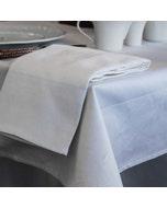 Partridge Eye Border White Tablecloth