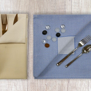 "Partridge Eye Border 22""x22"" Napkin, Polyester"
