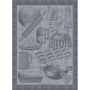 Patissier Gris Jacquard Kitchen Towel
