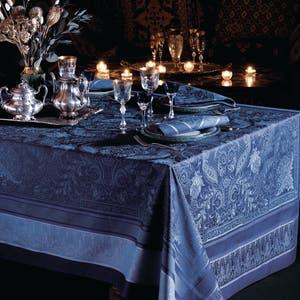Persina Crepuscule Jacquard Tablecloth, Stain Resistant Cotton