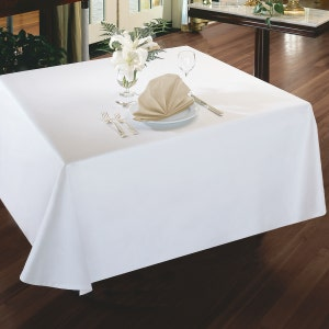 Plain Satin Tablecloth
