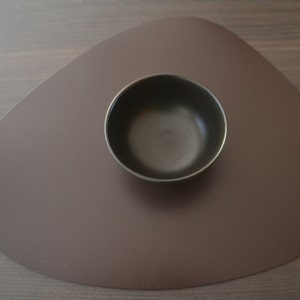 Plain Brown Placemat, 100% Recycled Leather