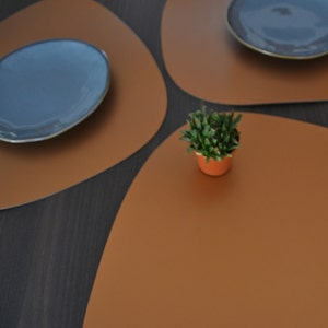 Plain Placemat, 100% Recycled Leather