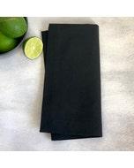 """Recycled Cotton Black Napkin 20""""x20"""", 100% Cotton, Set of 4"""