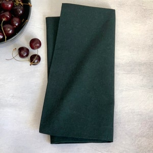 "Recycled Cotton Bottle Green Napkin 20""x20"", 100% Cotton, Set of 4"