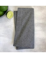 "Recycled Cotton Grey Napkin 20""x20"", 100% Cotton, Set of 4"
