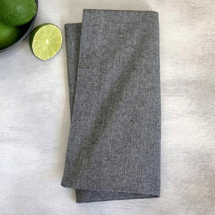 Recycled Cotton Grey Napkin, 100% Cotton, Set of 4