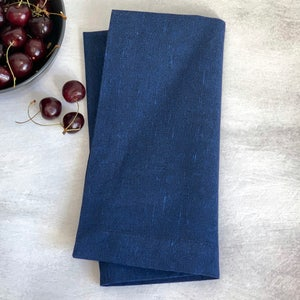 "Recycled Cotton Indigo Napkin 20""x20"", 100% Cotton, Set of 4"