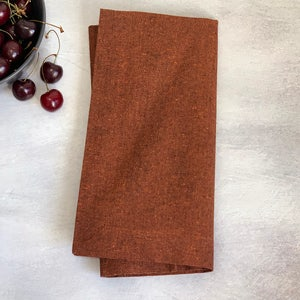 "Recycled Cotton Rust Napkin 20""x20"", 100% Cotton, Set of 4"