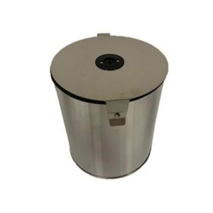 Round Stainless Steel Wipe Dispenser - Wall Mount or Countertop - Upward Pull