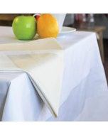 Satin Band 2 hems White Tablecloth