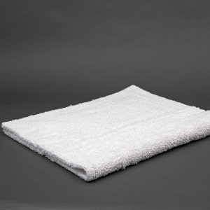 Saturne White Bath Rug