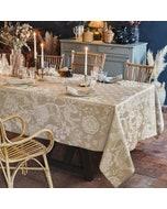 Scarlett Naturel Jacquard Tablecloth, 100% Linen Image