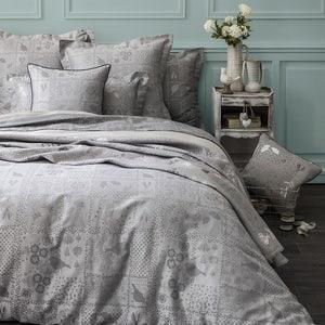 Secret Garden Grey Duvet Cover