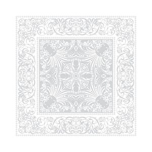 "Alexandrine Snow Napkin 21""x21"", Organic Cotton"