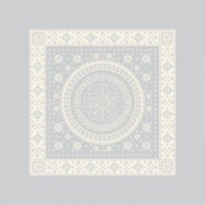 "Imperatrice Argent Napkin 21""x21"", Cotton/Polyester"