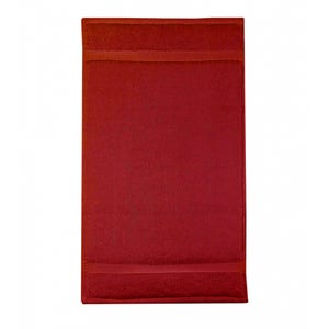 """Elea Cerise Guest Towel, 12""""x20"""""""