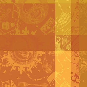 "Mille Banquets Ocre Napkin 22""x22"", 100% Cotton"
