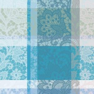 """Mille Dentelles Turquoise Napkin 22""""x22"""", 100% Cotton"""