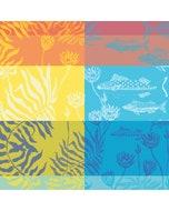 "Aquatic Rainbow Napkin 22""x22"", 100% Cotton"