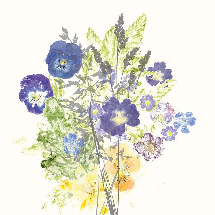 Fleurs Champetres Floraison Napkin, Cotton-linen blend