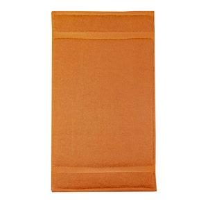 "Elea Orange Guest Towel, 12""x20"""