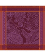 "Isaphire Pourpre Napkin 21""x21"", 100% Cotton"