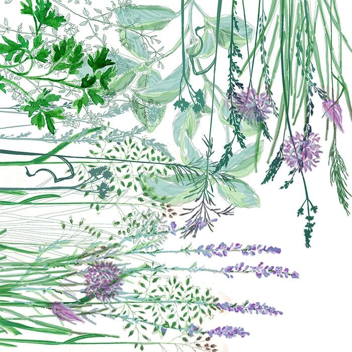 Jardin Aromatique Floraison Napkin, Cotton-linen blend