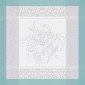"""Jardin De La Reine Celadon Napkin 21""""x21"""", 100% Cotton"""