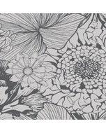 Mille Bloom Noir Napkin, Cotton-linen blend