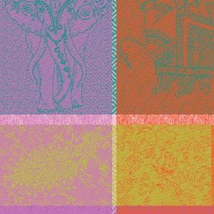 """Mille Holi Festival Napkin 19""""x19"""", 100% Cotton"""