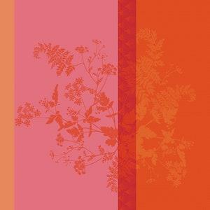 """Ombelles Rose Napkin 21""""x21"""", 100% Linen"""