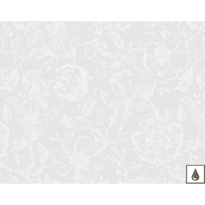 Mille Charmes Blanc Placemat, Coated Cotton