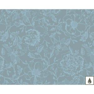 """Mille Charmes Bleu Louis XVI Placemat 16""""x20"""", Coated Cotton"""