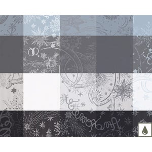 Mille Couleurs Orage Placemat, Coated Cotton
