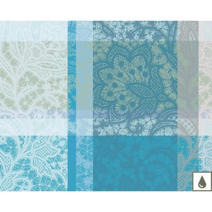 Mille Dentelles Turquoise Placemat, Coated Cotton