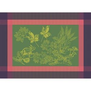 "Plaisirs D Automne Muscat Placemat 22""x16"", Green Sweet Stain-resistant Cotton"
