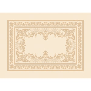 "Eleonore Dore Placemat 21""x15"", Green Sweet Stain-resistant Cotton/Polyester"