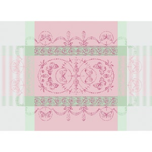"""Eugenie Candy Placemat 21""""x15"""", Green Sweet Stain-resistant Cotton"""