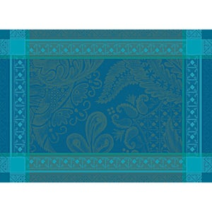 """Isaphire Emeraude Placemat 21""""x15"""", Green Sweet Stain-resistant Cotton"""