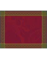 """Isaphire Rubis Placemat 21""""x15"""", Green Sweet Stain-resistant Cotton"""
