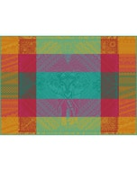 "Jodhpur Festival Placemat 22""x16"", Green Sweet Stain-resistant Cotton"