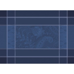 """Persina Crepuscule Placemat 21""""x15"""", Green Sweet Stain-resistant Cotton"""